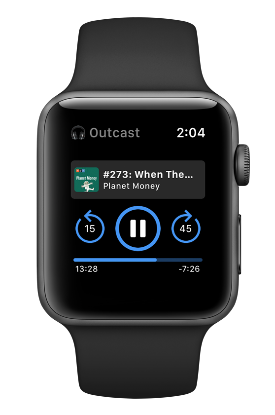 OUTCAST  Browse, download and play podcasts on your Apple Watch  No